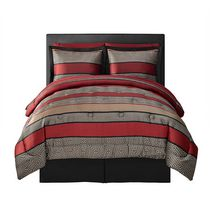 Mainstays Greek Key Bed in a bag - Red Double