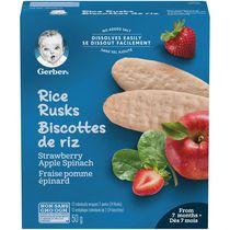 Biscottes de riz GERBER® Fraise Pomme Épinard pour bébés 24 biscottes, 50 g