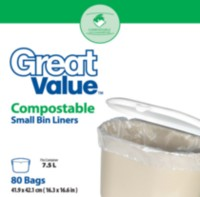 Great Value Compostable Small Bin Liners