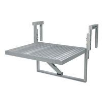 Interbuild 28 inch x 24 inch Toronto Acacia Balcony Table, Dusk Grey Finish