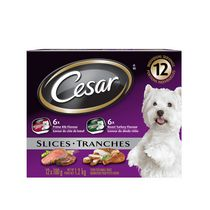 Cesar 6 Roast Turkey Flavour and 6 Prime Rib Slices for Small Dogs