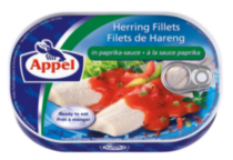 Paprika Herring Filets, 200 g