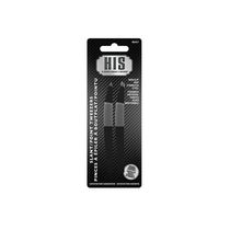 HIS Non-Slip Grip Stainless Steel Slant/Point Tweezers Pack of 2