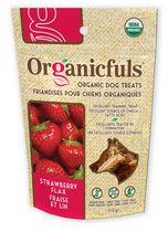 Organicfuls Organic Dog Treats - Strawberry Flax