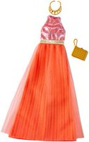 Barbie Fashions #1 Pink, Gold and Orange Gown