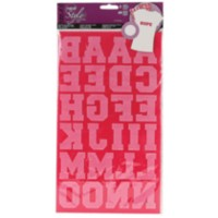 IOL 1.5-inch Fuchsia Athletic Letters