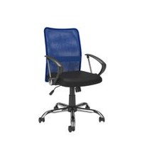 CorLiving Workspace Contoured Blue Mesh Back Office Chair