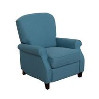 CorLiving Noah Blue Linen Fabric Recliner
