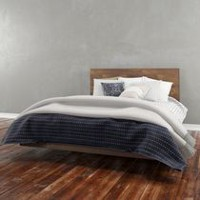 Nexera Nocce Queen Truffle Headboard and Platform Bed