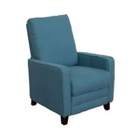 CorLiving Kelsey Blue Linen Fabric Recliner
