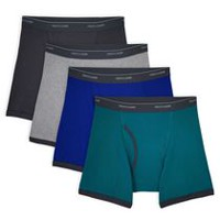 Fruit of the Loom Mens 4 Pack Low Rise Boxer Briefs M