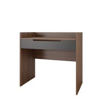 Nexera Alibi  Walnut and Charcoal Vanity Desk