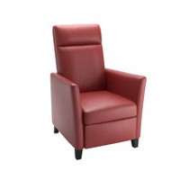 CorLiving Elise Red Bonded Leather Recliner