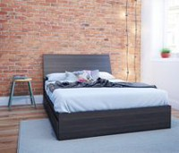 Nexera Tribeca Full Size Ebony Headboard and Storage Bed
