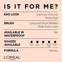 L'Oréal Paris Bambi Eye Mascara, Agrandisseur de Regard Instantané, Volume Défini, Noir, 8  ML - image 4 de 6
