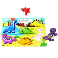 Tooky Toy Wooden Dinosaur Chunky Puzzle