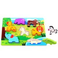 Tooky Toy Wooden Animals Chunky Puzzle