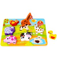 Tooky Toy Wooden Farm Chunky Puzzle