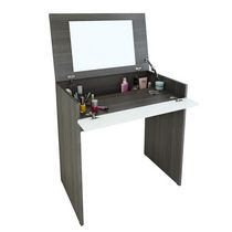 Nexera Tribeca Ebony and White Vanity Desk