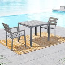 CorLiving Gallant Sun Bleached Grey Outdoor Dining Set