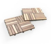 Acacia Deck Tiles by Interbuild Canada -Pack of 10 tiles - Organic White color