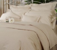 Ambassador 300 Thread Count Maholi Damask Stripe Cotton Sheet Set Brown/tan Queen