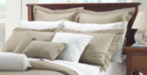 Ambassador 400 Thread Count Maholi Bamboo Pattern Cotton Sheet Set White Twin/Double
