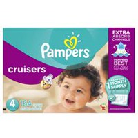 Pampers Cruisers Diapers Size, 1 Month Supply Size 4
