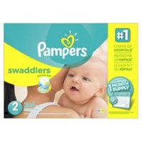 Couches Pampers Swaddlers, provision de couches pour un mois Taille 2