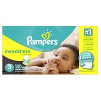 Pampers Swaddlers Diapers, 1 Month Supply Size 3