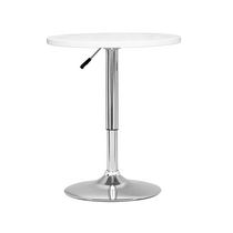 CorLiving DAW-510-T Adjustable Height Round Bar Table in White Wood Finish