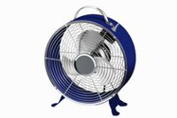 "Mainstays 9"" Blue Retro Drum Fan"