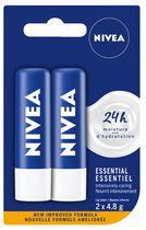 NIVEA Baume à lèvres Essential Care avec 24H d'hydratation