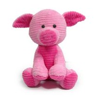 Figurine d'animaux en peluche de 10 po de kid connection - Cochon