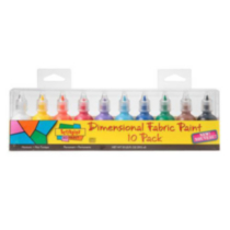 Scribbles® 3D Fabric Paint 10 Pack - Primary
