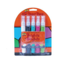 Scribbles Dimensional Fabric Paint 5 Pack Pens Bright