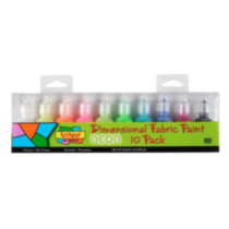 Scribbles® 3D Fabric Paint 10 Pack - Neon