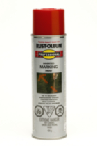 Rust-Oleum Professional Inverted Marking Paint - Red-Orange 426g