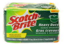 Éponge à récurer Scotch-Brite paquet de 3
