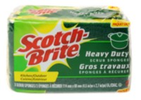 Scotch-Brite ™Heavy Duty Scrub Sponge 3 pack
