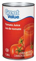 Jus de tomate Great Value