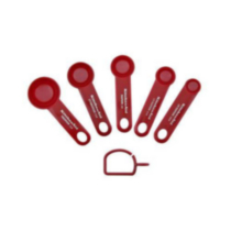 KitchenAid® Set of 5 Plastic Measuring Spoons Red