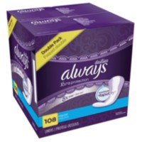 Always Xtra Protection Regular Leakguard + Rapid Dry Liners Double Pack