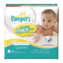 Lingettes Pampers Sensitive ThickCare 3x boîte de la recharge 180
