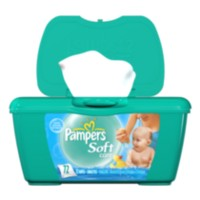 Lingettes - Pampers Soft Care parfumées, 72 lingettes