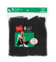 Hanes Mens cushion Ankle sock – 6 pairs Black