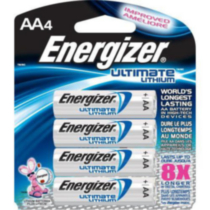 Piles lithium AA Ultimate d'Energizer