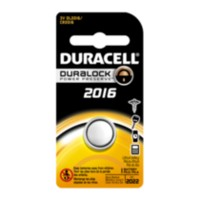 Duracell Coin Button 2016 batteries, 1 Count