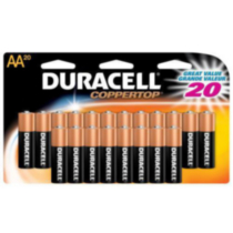 Pile Duracell Coppertop AA-20