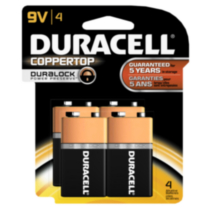 Duracell Coppertop 9V